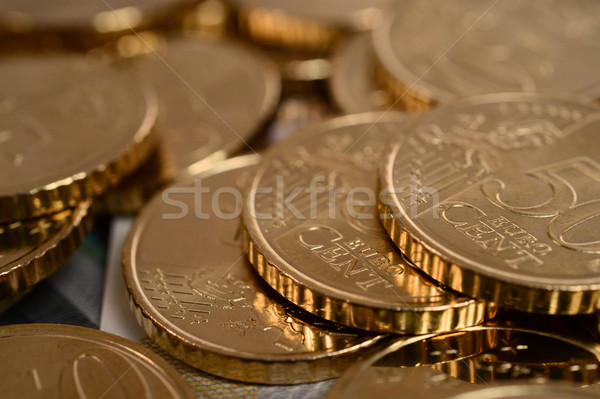 Euro madeni para yalıtılmış makro doku finanse Stok fotoğraf © ocusfocus