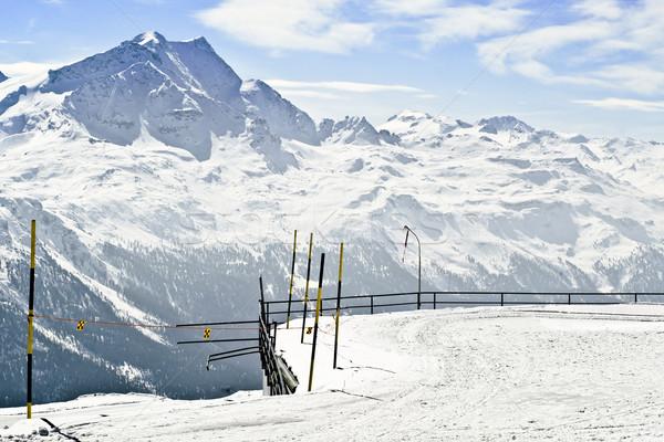 Panoramik görmek alpler kapalı kar güneşli Stok fotoğraf © ocusfocus