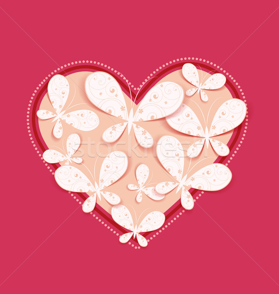 Heart with butterflies Stock photo © odina222