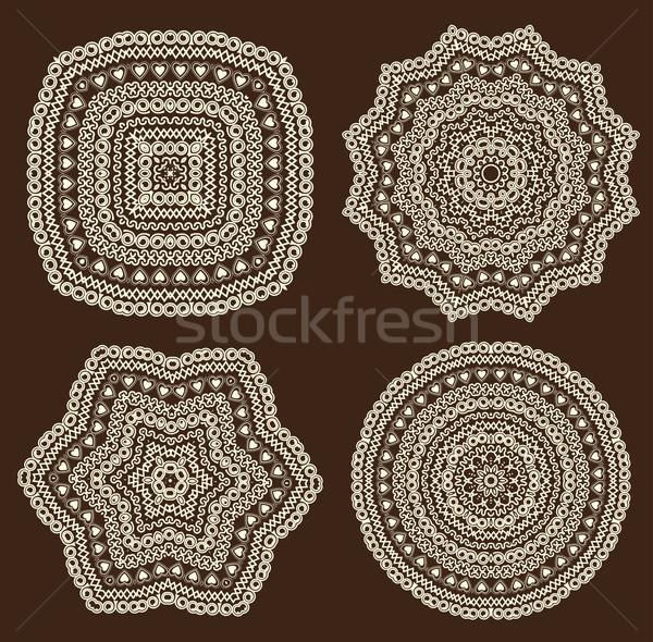 Patroon vector ingesteld ontwerpen Stockfoto © odina222