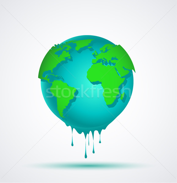 Monde bleu monde vert continents relevant Photo stock © odina222