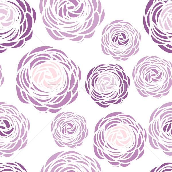 Seamless pattern with purple flowers Stock photo © odina222
