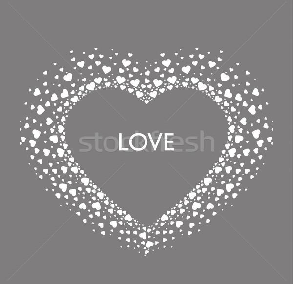 Stockfoto: Vector · decoratie · hart · romantische · Valentijn · harten