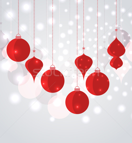 Vector Christmas balls  Stock photo © odina222