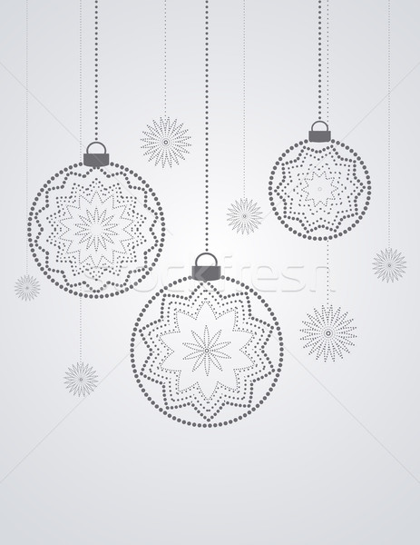 Stock photo: Vector Christmas balls