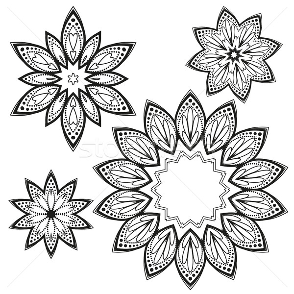 Vector flower mandala Stock photo © odina222