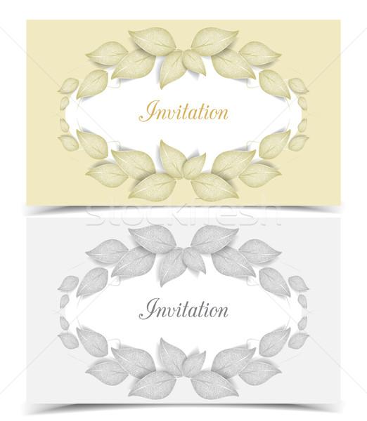 листьев цвета дизайна два вектора Сток-фото © odina222