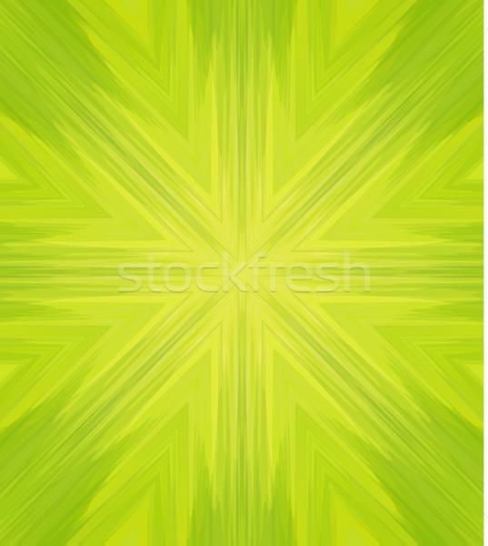 Сток-фото: вектора · аннотация · шаблон · зеленый · калейдоскоп · воды