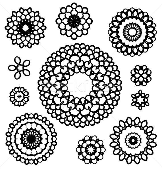 Ornament patroon vector ingesteld Stockfoto © odina222