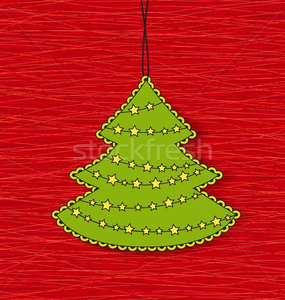 Vector Christmas tree Stock photo © odina222
