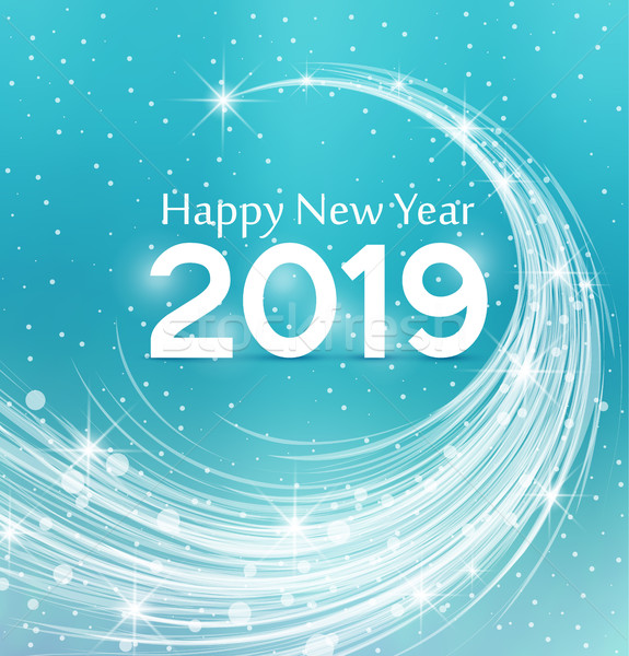 Boldog új évet égbolt buli boldog absztrakt fény Stock fotó © odina222