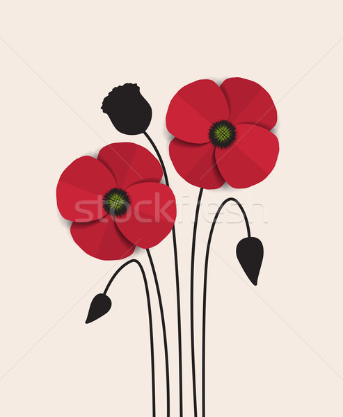 Red Poppy Stock photo © odina222