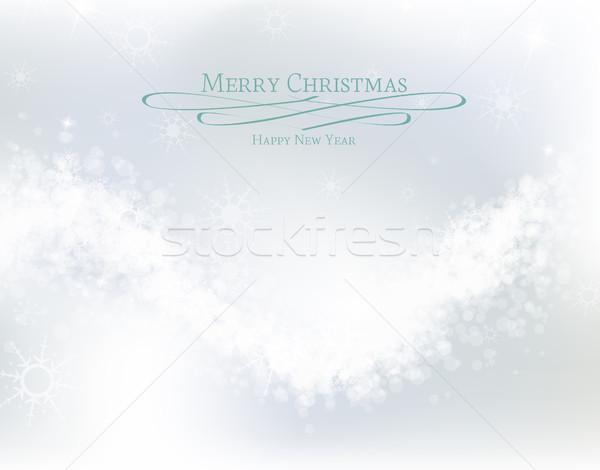 Рождества аннотация белый снега окна Сток-фото © odina222
