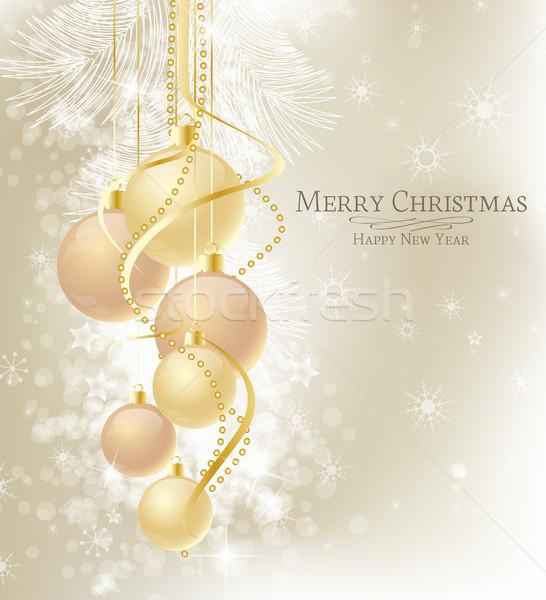 Рождества элегантный коричневый золото счастливым Сток-фото © odina222