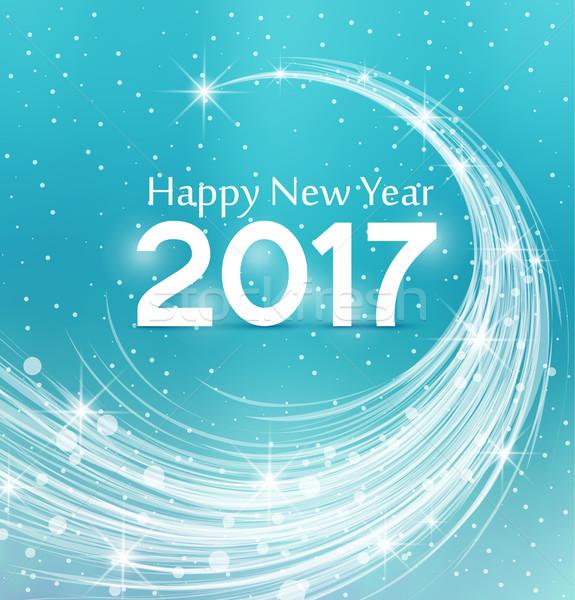 Gelukkig nieuwjaar hemel partij gelukkig abstract licht Stockfoto © odina222