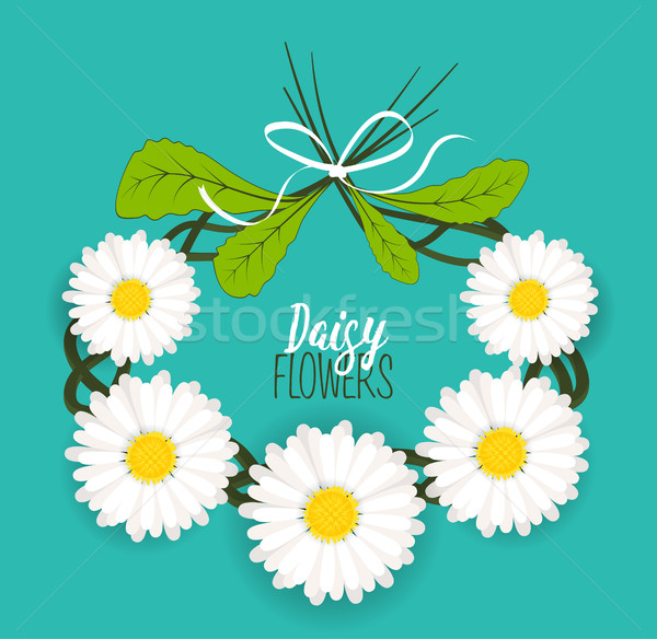 Meadow flower wreath Stock photo © odina222