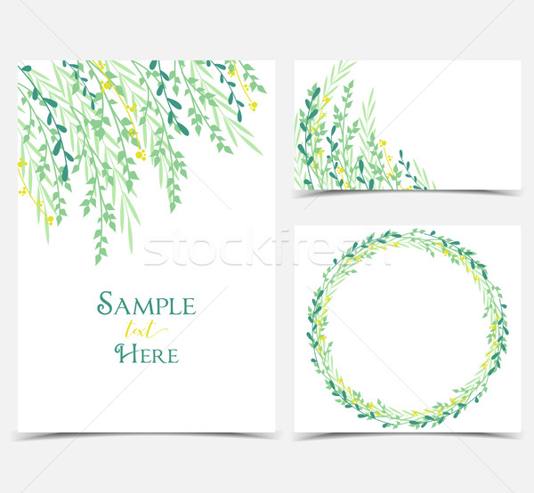 Decoration of branches and leaves Stock photo © odina222