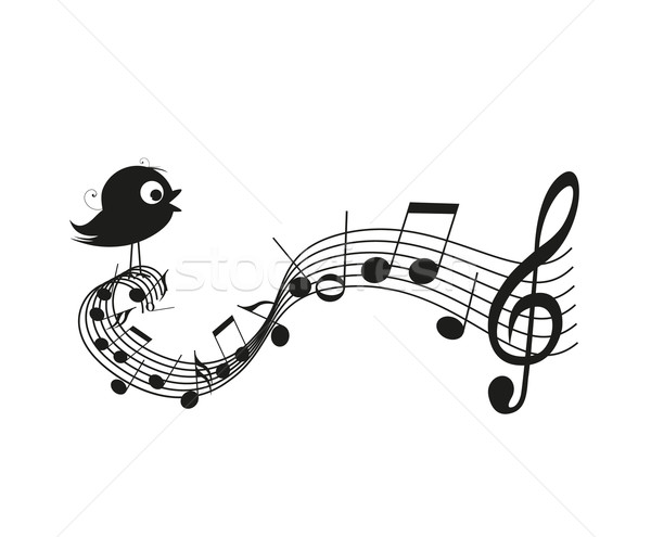 Singing bird Stock photo © odina222