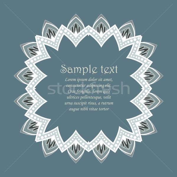 Vector ontwerp Blauw bloem blad Stockfoto © odina222