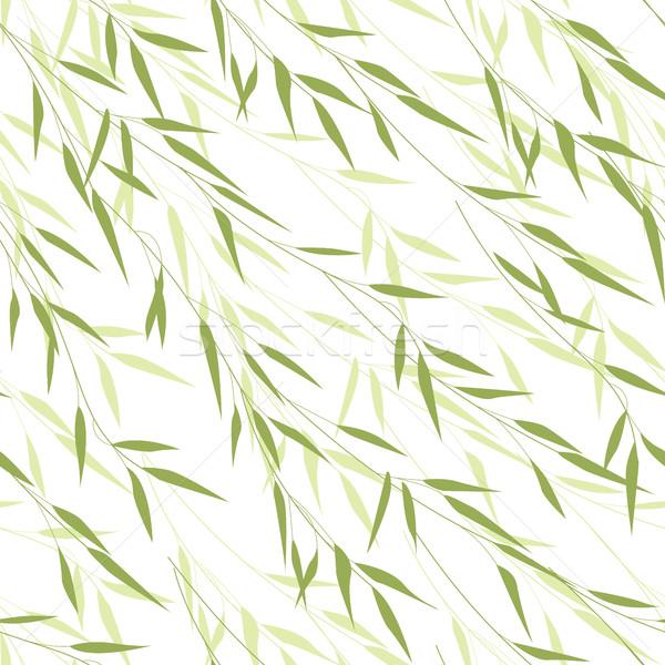 Seamless pattern of bamboo leaves Stock photo © odina222