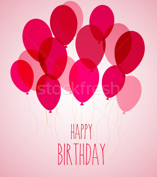 Birthday party balloons in pink Stock photo © odina222
