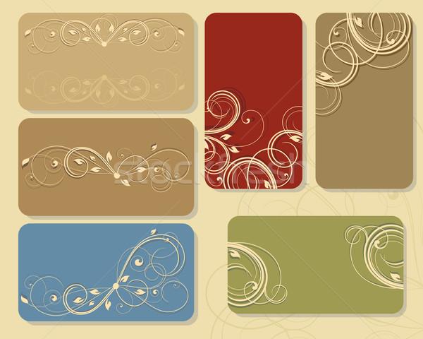 floral business cards Stock photo © odina222