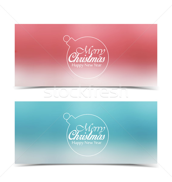 Vector Christmas banners Stock photo © odina222