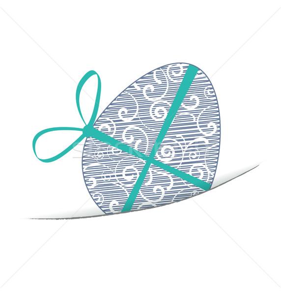 イースター 白 イースターエッグ 幸せ 卵 レトロな ストックフォト © odina222