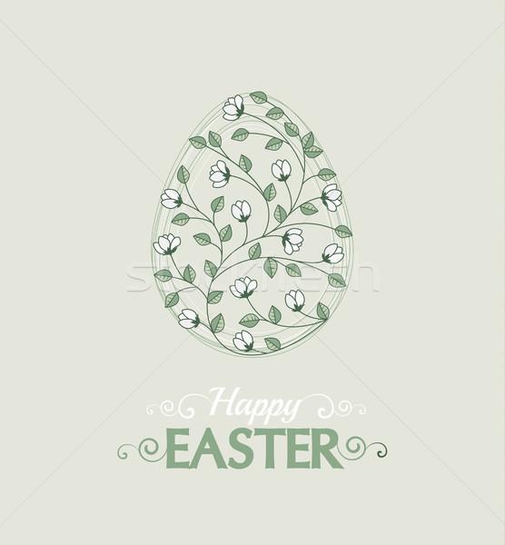 5c781c6872 Vektor húsvéti tojások húsvét illusztráció díszítések virágok Stock fotó ©  odina222