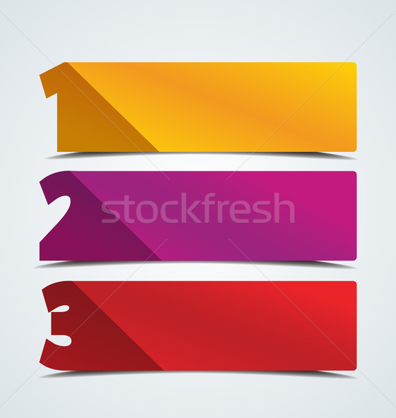 Numbered Banners Stock photo © odina222