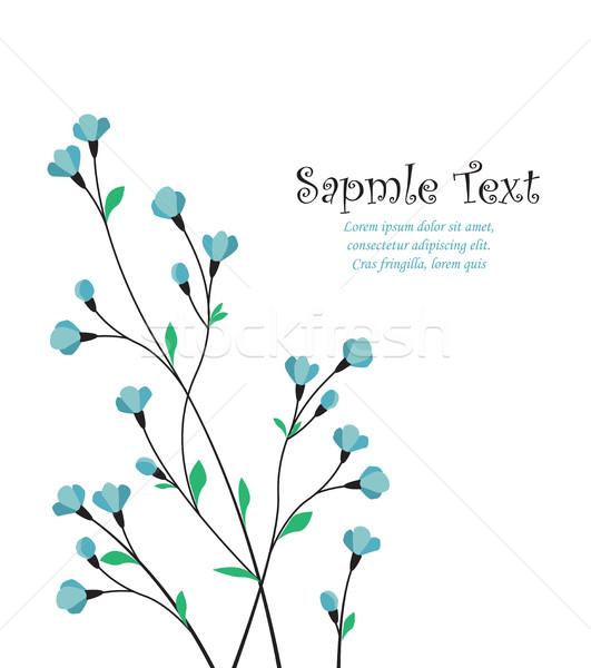Vector decoratie bloemen witte abstract schoonheid Stockfoto © odina222