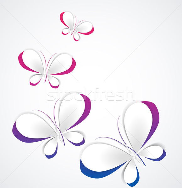 Vector paper butterflies Stock photo © odina222