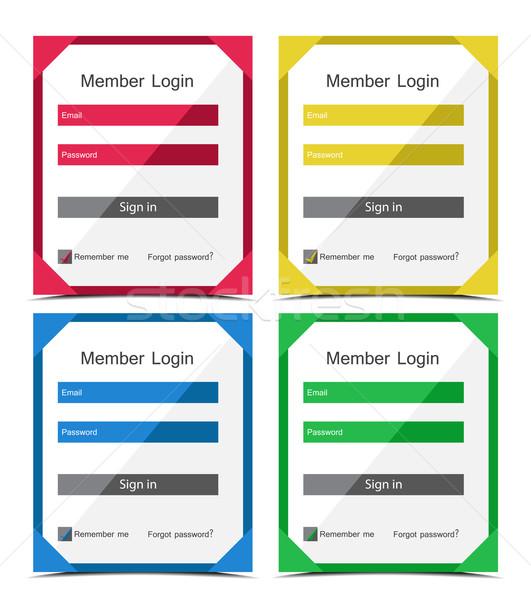 Photo stock: Vecteur · membre · s'identifier · différent · couleurs