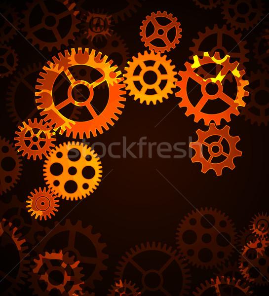 Vektör mekanizma siyah soyut dizayn Stok fotoğraf © odina222