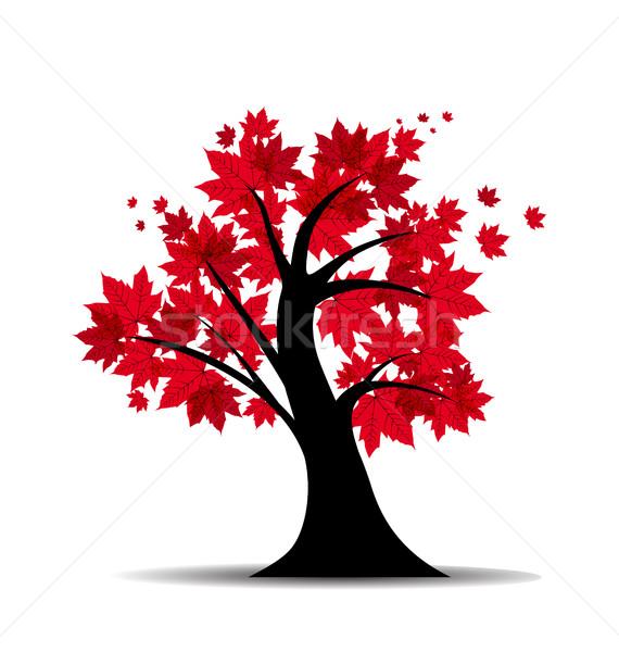 Vetor bordo árvore silhueta floresta natureza Foto stock © odina222