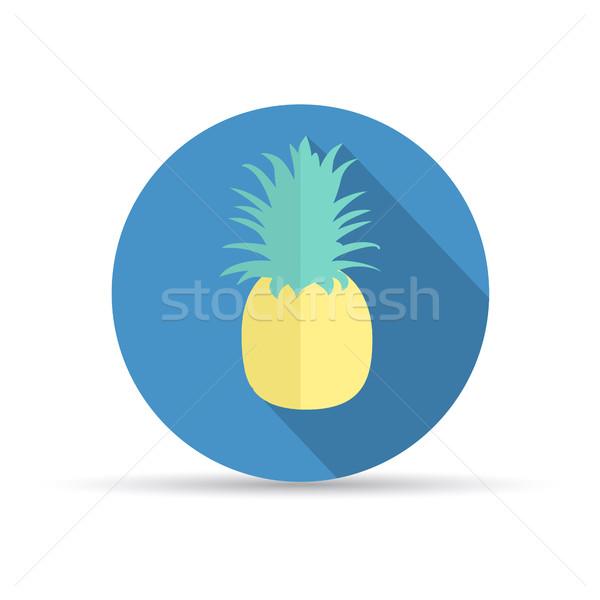 Tropische vruchten ananas vruchten symbool natuur teken Stockfoto © odina222