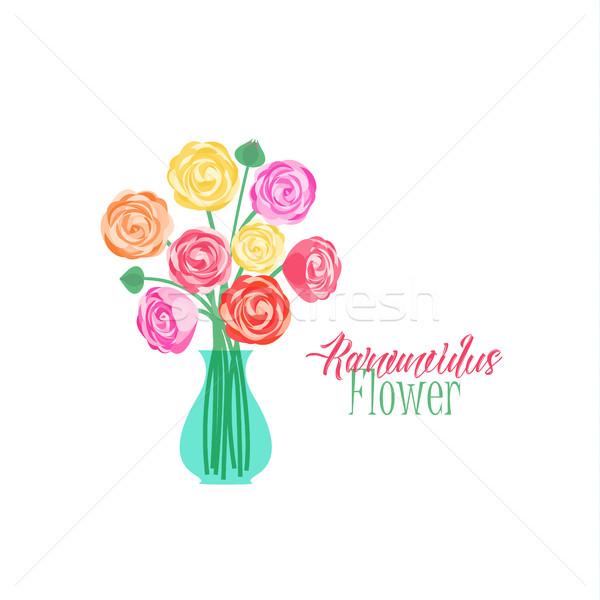 Vaso fiori fiore amore foglia Foto d'archivio © odina222