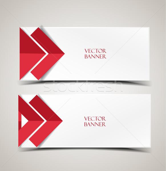 Vector moderne banners ingesteld pijlen abstract Stockfoto © odina222