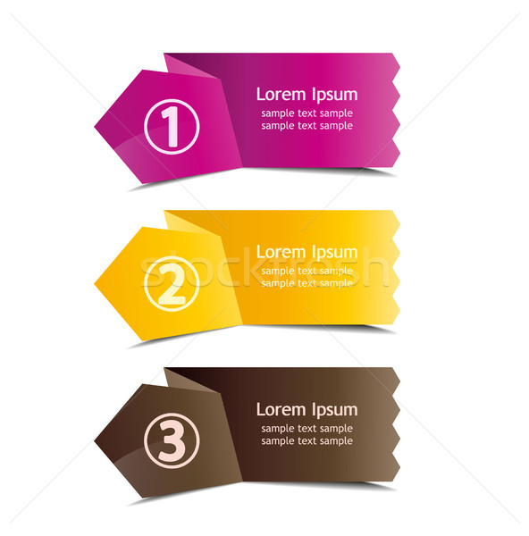 3 number banners Stock photo © odina222