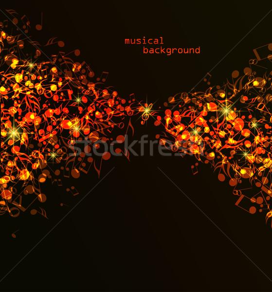 Colorful musical background Stock photo © odina222