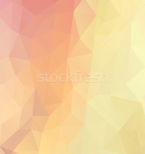 Vektör soyut retro desen geometrik renk Stok fotoğraf © odina222