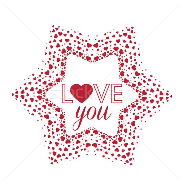 Vector decoration heart Stock photo © odina222
