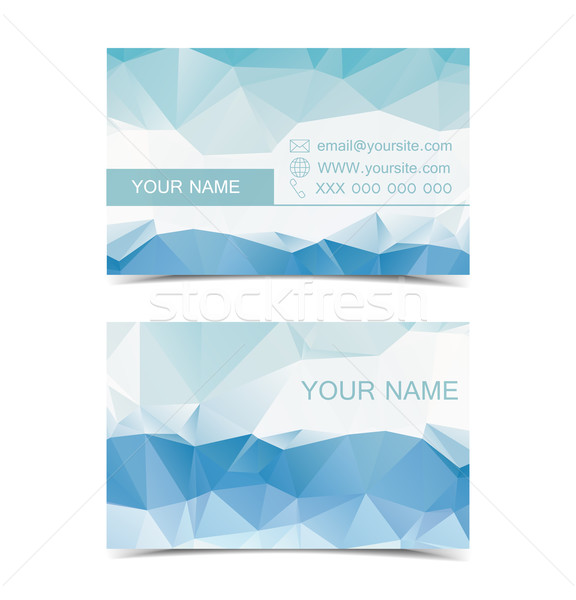 Vector business cards Stock photo © odina222
