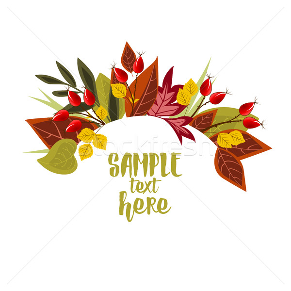 Autumn leaves with rose hip Stock photo © odina222