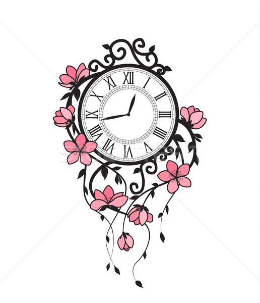 桜 花 クロック ピンク フローラル ストックフォト © odina222