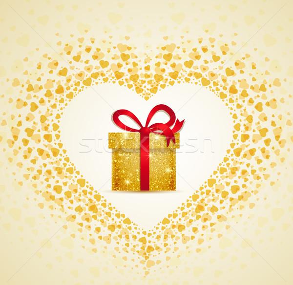 Vector gift from the heart Stock photo © odina222