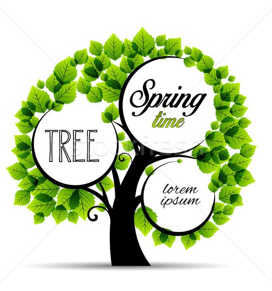 вектора зеленый деревья место текста Сток-фото © odina222