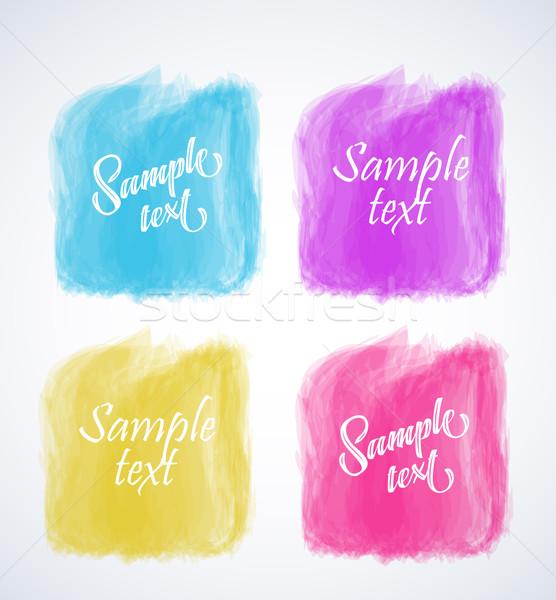 вектора красочный Баннеры Элементы Этикетки веб Сток-фото © odina222