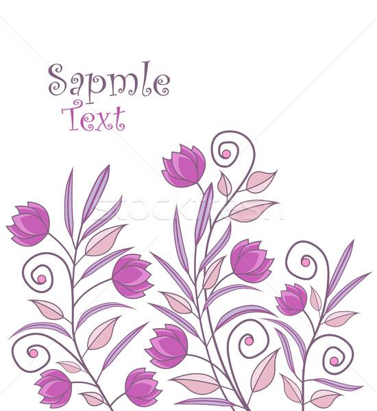 Vektor virágmintás díszítések virágok divat terv Stock fotó © odina222