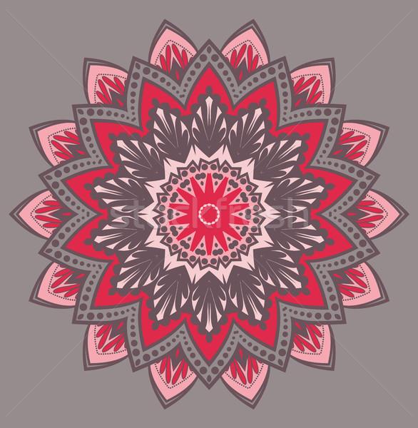 Vektör çiçek mandala dizayn renkli Stok fotoğraf © odina222